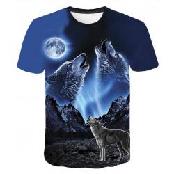 T Shirt Loup Lune
